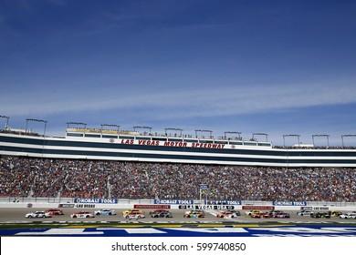 March 12, 2017 - Las Vegas, Nevada, USA: The Monster Energy NASCAR Cup Series take the green flag to start the Kobalt 400 at Las Vegas Motor Speedway in Las Vegas, Nevada.