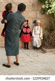 March 13, 2012. Israel. Jerusalem. Carnival Purim. Scenes from the life of the city. Purim is a Jewish holiday celebrates the salvation of the jews from genocide in ancient Persia