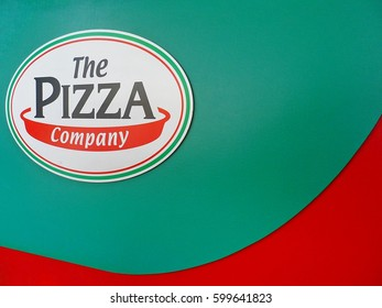 March 13'2017 :The Pizza company logo. The Pizza Company has been the pizza market leader in the dine-in, delivery and takeaway segments in Pathum Thani,Thailand on March 13'2017.