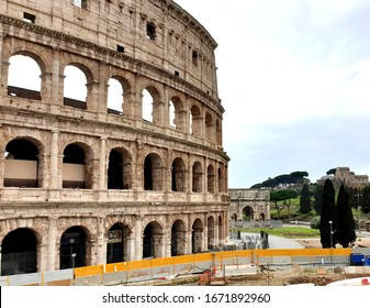 March 13th 2020, Rome, Italy: View of the Colosseum without tourists due to the quarantine