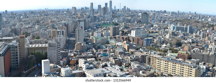 March 15, 2016 - Tokyo, Japan : In summer of Japan,Photo from the corner of the street and the view from Bunkyo-ku district,On day Panorama image of Tokyo metropolis.