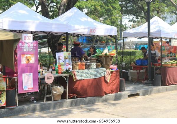"March 15, 2017 : Undergraduate & Graduate & secondary school students, education people in ""Chula EXPO 2017"" academic exhibition ,Chulalongkorn University, Bangkok,Thailand."