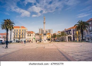 MARCH 16, 2017:  Square at Setubal, Alentejo - Portugal.