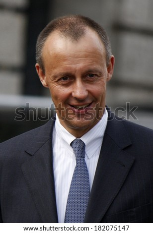 MARCH 18, 2012 - BERLIN: Friedrich Merz leaves the Reichstags building after the election of the new Federal President of Germany.