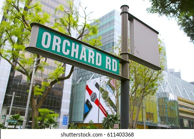 MARCH 18,2017 : Street sign that read orchard road the famous shopping area in singapore