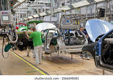 MARCH 18TH, 2018 - MLADA BOLESLAV, CZECHIA | Skoda Auto announces a new export record for the last year. They sold in total for 310 mld. CZK, which is 12.4 mld. EUR to foreign countries