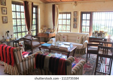 March 19, 2016, Nainital, Uttarakhand, India. The interiors of Abbotsford Heritage Homestay built in 1876 in Nainital.