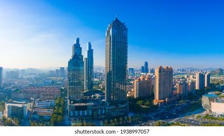 March 19, 2021:Cityscape of Suzhou City, Jiangsu Province, China