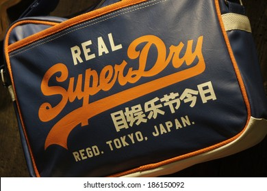 "MARCH 20, 2014 - BERLIN: the logo of the brand ""Superdry"", Berlin."
