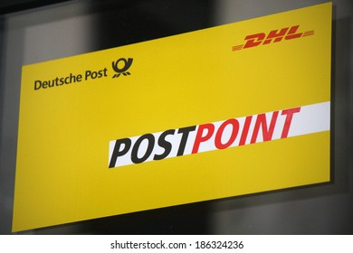 "MARCH 20, 2014 - BERLIN: the logo of the brand ""Postpoint"", Berlin."