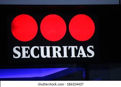 "MARCH 20, 2014 - BERLIN: the logo of the brand ""Securitas"", Berlin."
