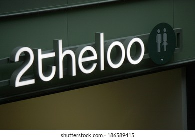 "MARCH 20, 2014 - BERLIN: the logo of the brand ""2theloo"", Berlin."