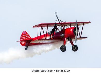 March 20, 2016. Los Angeles County Air Show. Third Strike Wingwalking.