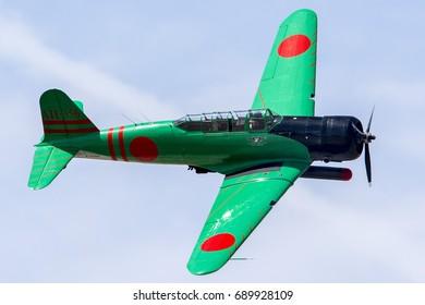 "March 20, 2016. Los Angeles County Air Show, California, USA. Nakajima B5N ""Kate"" Torpedo Bomber"