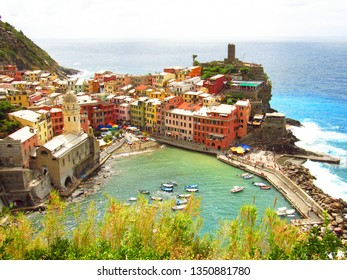 March 2011,Liguria, Italy : Beautiful view of Vernazza.