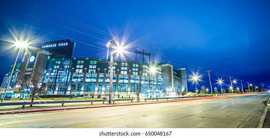 March 2017 Green Bay Wisconsin - Lambeau Field - Green Bay Packers at night