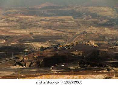 March 2019 - Lignite mining of Hongsa Power Plant (HPC) at Hongsa District in Lao PDR.