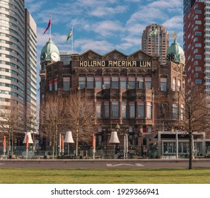 March 2021, February 2021, Holland America Line (dutch Holland Amerika lijn) in Rotterdam the Netherlands