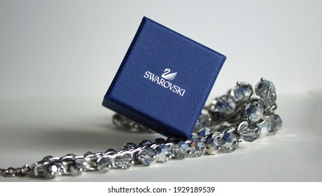 March 2021, Swansea, UK. Product Photography of Swarovski CRY RHS Ring Size 52 5095308