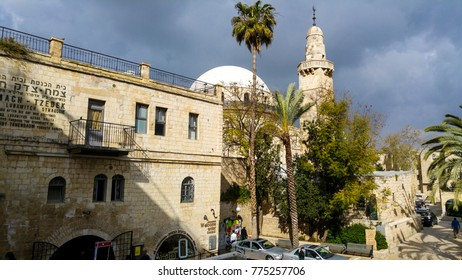 March 21, 2016 - Jerusalem, Israel: The Tzemach Tzedek Synagogue survived the infamous six day war in 1948.