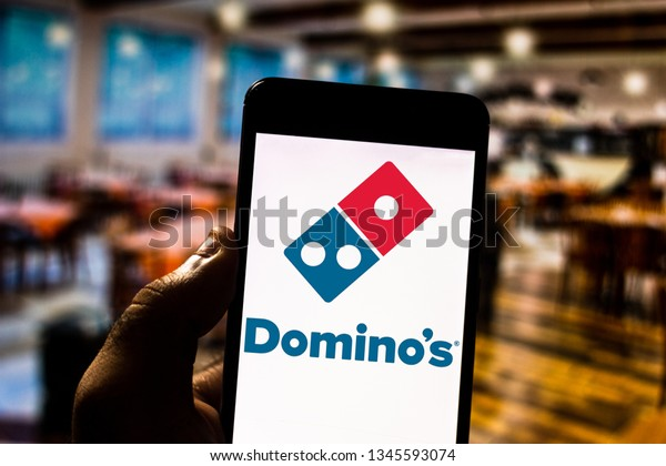 March 21 2019 Brazil Dominos Pizza Stock Photo (Edit Now