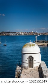 """March 21 2019, CASCAIS, LISBON, PORTUGAL, """"Maregrafo de Cascais"""" Cascais Tide Gauge, one of the first European observatories in 19th Century in Cascais to study of currents and tides."""