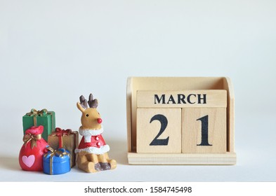 March 21, Christmas, Birthday with number cube design for background.
