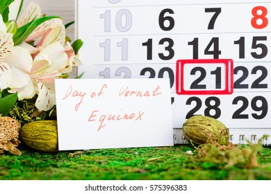 March 21 vernal equinox, spring calendar