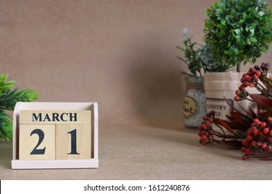 March 21, Vintage natural calendar.
