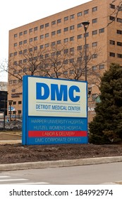 March 22. 2014. Sign. Detroit Medical Center. DMC is the Leading Detroit Hospital and Largest Health Care Provider in Southeast Michigan. Detroit, Michigan, USA.