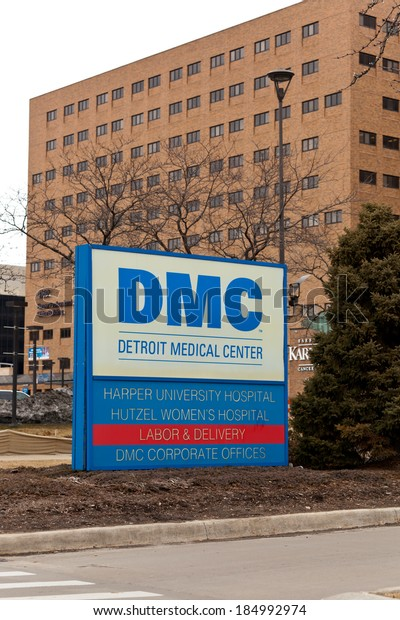 March 22 2014 Sign Detroit Medical Stock Photo (Edit Now