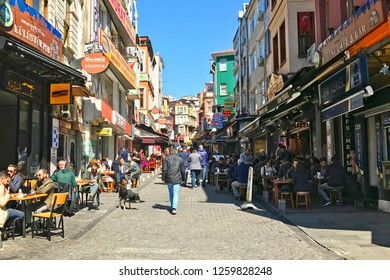 March 22, 2017- Besiktas-Istanbul-Turkey. People having fun outside on a sunny day.