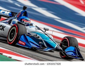 March 22, 2019 - Austin, Texas, USA:  TAKUMA SATO (30) of Japan goes through the turns during practice for the INDYCAR Classic at Circuit Of The Americas in Austin, Texas.
