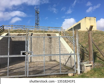 March 23rd 2019: Perthshire, Scotland - Former cold war secret bunker at the former WWII Cultybraggan prisoner of war camp near Comrie, Perthshire