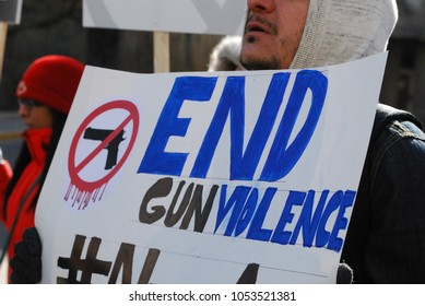 March 24 2018: MARCH FOR OUR LIVES Rally - American Gun Violence Protest - Toronto - Gun Control, Signs, Students from Stoneman Douglas High School, Parkland Florida, Politics and NRA
