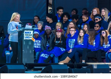 MARCH 24, 2018 - Washington DC - Jaclyn Corin speaks at March for our Lives Rally and Protest against guns, Washington D.C., March 24, 2018