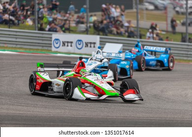 March 24, 2019 - Austin, Texas, USA:  PATRICIO O'WARD (R) (31) of Mexico brings his car through the race course during the INDYCAR Classic at Circuit Of The Americas in Austin Texas.