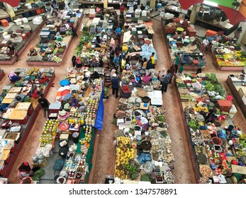 March 24, 2019 Kelantan Malaysia; Pasar Siti Khadijah located in Kota Bahru Kelantan Malaysia is one of tourist attractive that shows variety of goods selling with best price