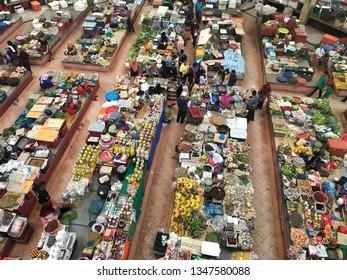 March 24 2019 Kota Bharu Kelantan Malaysia; Pasar Siti Khadijah is traditional market in Kota Bharu that most of the seller are women