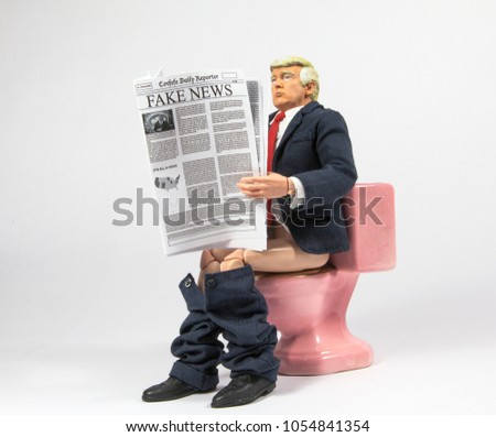 MARCH 25 2018 Caricature United States Stock Photo (Edit Now