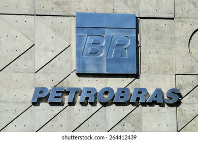 March 25th, 2015 - Petrobras, (Brazil's state-owned oil company) logo on your headquarters in Rio de Janeiro