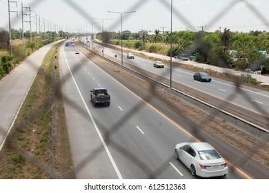 March 26, 2017, Bangkok, Thailand; car on Thailand highway