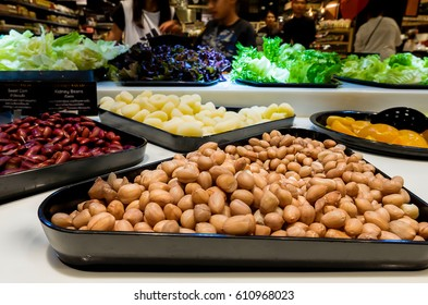 March 26, 2017: Salad Bar in The Mall Supermarket at Nakhon Ratchasima, Thailand