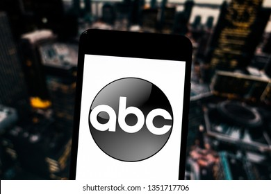 March 27, 2019, Brazil. ABC logo on mobile device. The American Broadcasting Company is a US commercial media group, which includes various media.