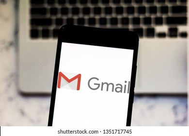 March 27, 2019, Brazil. Gmail logo on your mobile device. Gmail is a free webmail service created by Google in 2004.