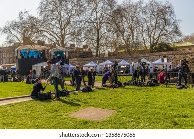March 29 2019. London. Press outside parliament square London