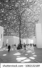March 29th 2018, Abu Dhabi UAE,  The beautiful architecture of Louvre museum in Abu Dhabi.