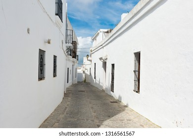 March 3, 2016 - El Cerro de las Maldades, a Spanish hilltop town and municipality in the province of Cádiz, Andalusia, on the right bank of the river Barbate. The town of Vejer de la Frontera in Spain