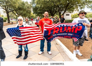 MARCH 3, 2018, PRO-TRUMP RALLY, AUSTIN TEXAS - Pro-Trump Activists Hold Rally Supporting President Trump, State Capitol, Austin Texas