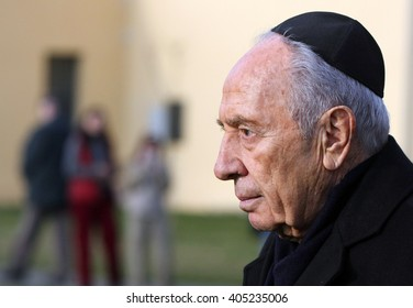 March 30. 2011: Israeli statesman and politician Shimon Peres during his visit  in Terezin,  Czech Republic